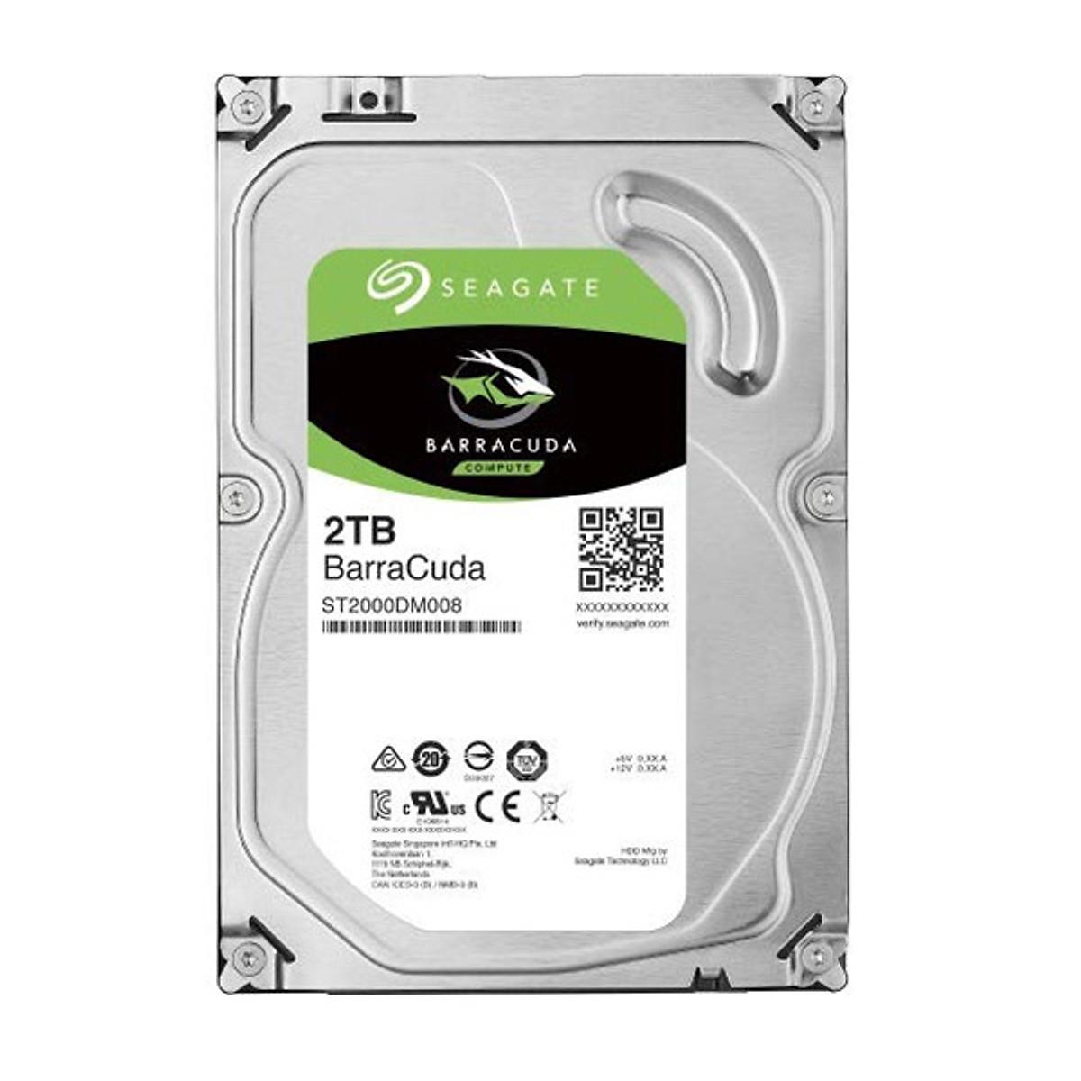 Ổ Cứng HDD Seagate BarraCuda 2TB/64MB/3.5 ST2000DM008 – Hàng Chính Hãng