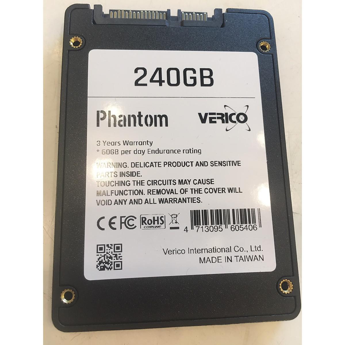 Ổ cứng SSD Verico Phantom sata III 240Gb Black – Hàng Chính Hãng