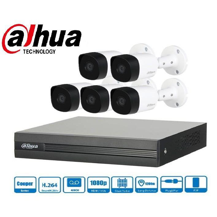 Trọn gói Camera Gia đình 01 – 5 camera Dahua (2MP)