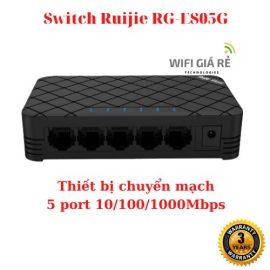 Thiết bị mạng Switch Ruijie RG-ES05G – 5 port 10/100/1000Mbps, vỏ nhựa, bảo hành 3 năm, hàng chính hãng