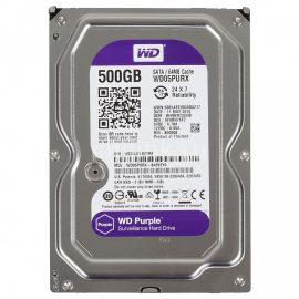 Ổ Cứng Camera WD Purple 500G/64MB/3.5 IntelliPower – WD05PURX – Hàng Nhập Khẩu