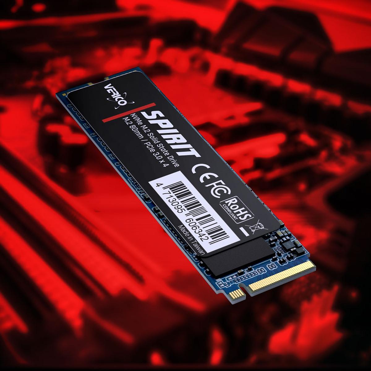Ổ cứng SSD Verico Spirit M2 256Gb Black – Hàng Chính Hãng