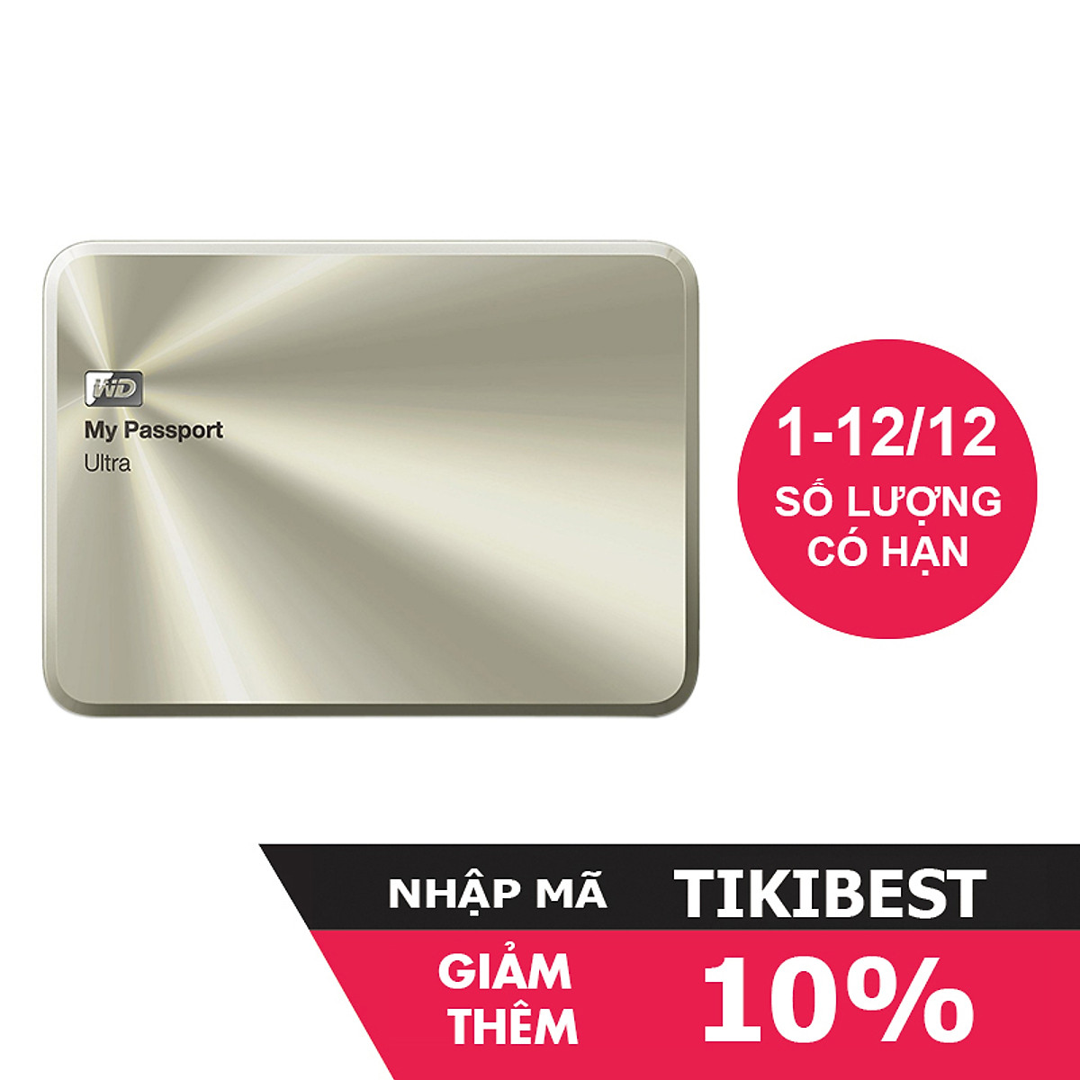 Ổ Cứng Di Động WD My Passport Ultra Metal 2TB APAC – Hàng Chính Hãng