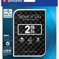 Ổ cứng di động Verbatim 2.5′ USB 3.0 2TB (Đen) – Hàng chính hãng