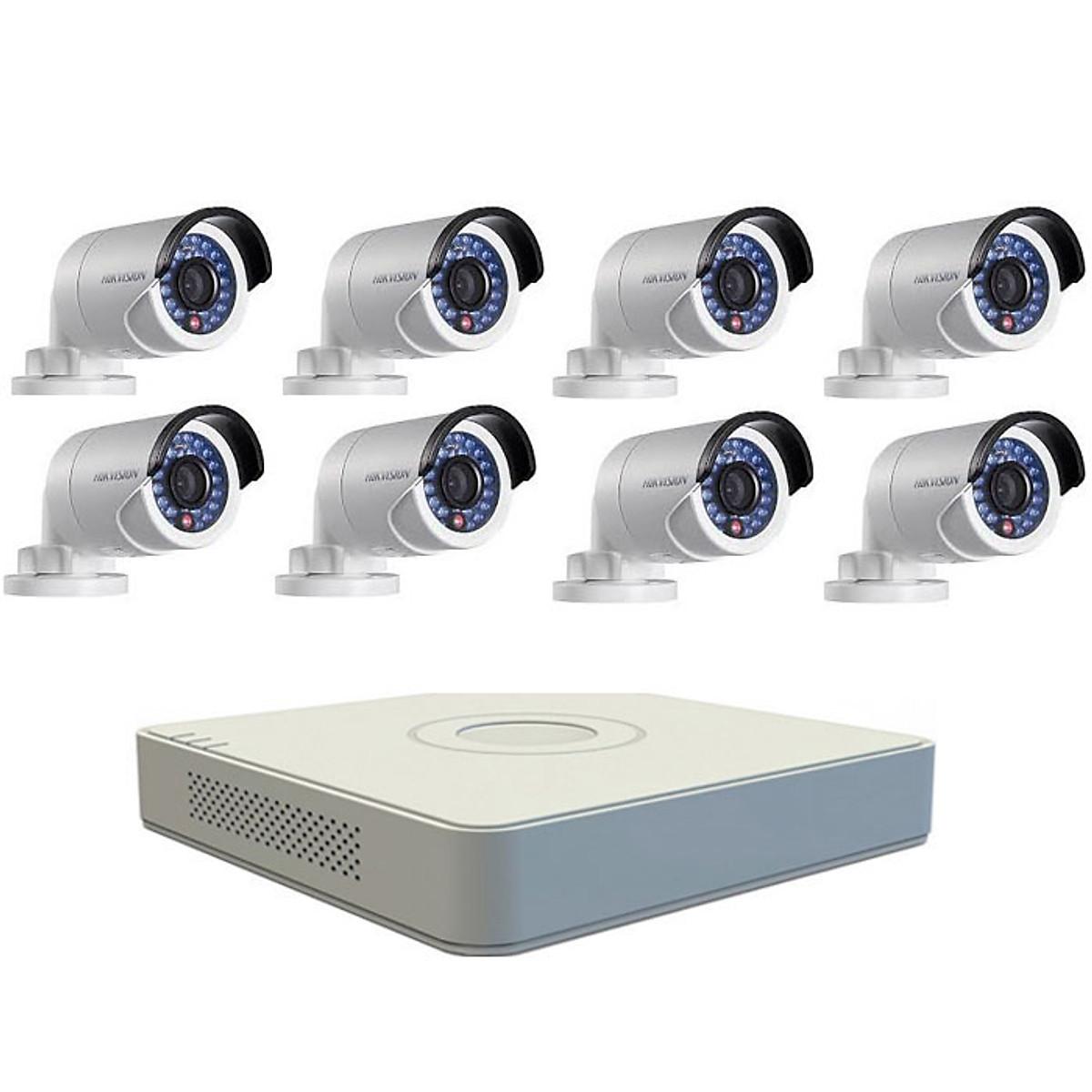Bộ Camera Quan Sát Hikvision 8 Kênh 2.0MP Full HD – Hàng Chính Hãng