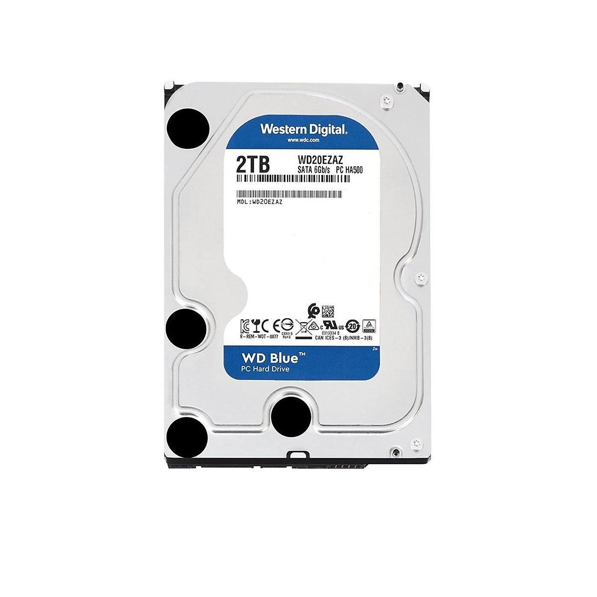 Ổ Cứng HDD WD Blue 2TB/256MB/5400/3.5 – WD20EZAZ- Hàng chính hãng