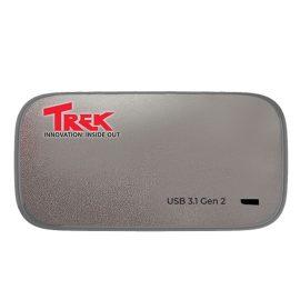 Ổ cứng di động SSD TREK Micro Portable SSD 256GB USB 3.1 Gen 2 Type C (Titanium) – Hàng Chính Hãng