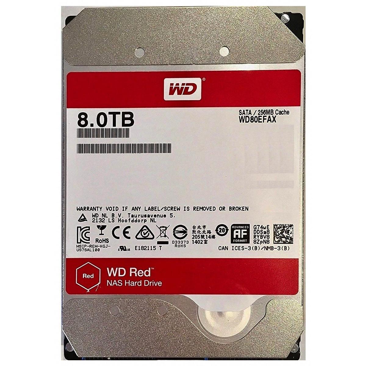 Ổ Cứng HDD WD Red 8TB 3.5 inch Sata III – Hàng Nhập Khẩu
