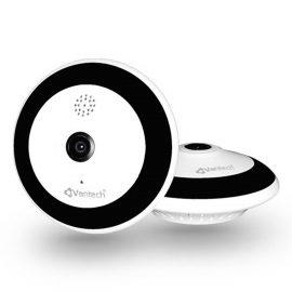 Camera Wifi Góc Nhìn 360° 2.0 MP Tích Hợp Ống Kính FISHEYE, Đàm Thoại 2 Chiều, VANTECH V2060-Hàng Chính Hãng