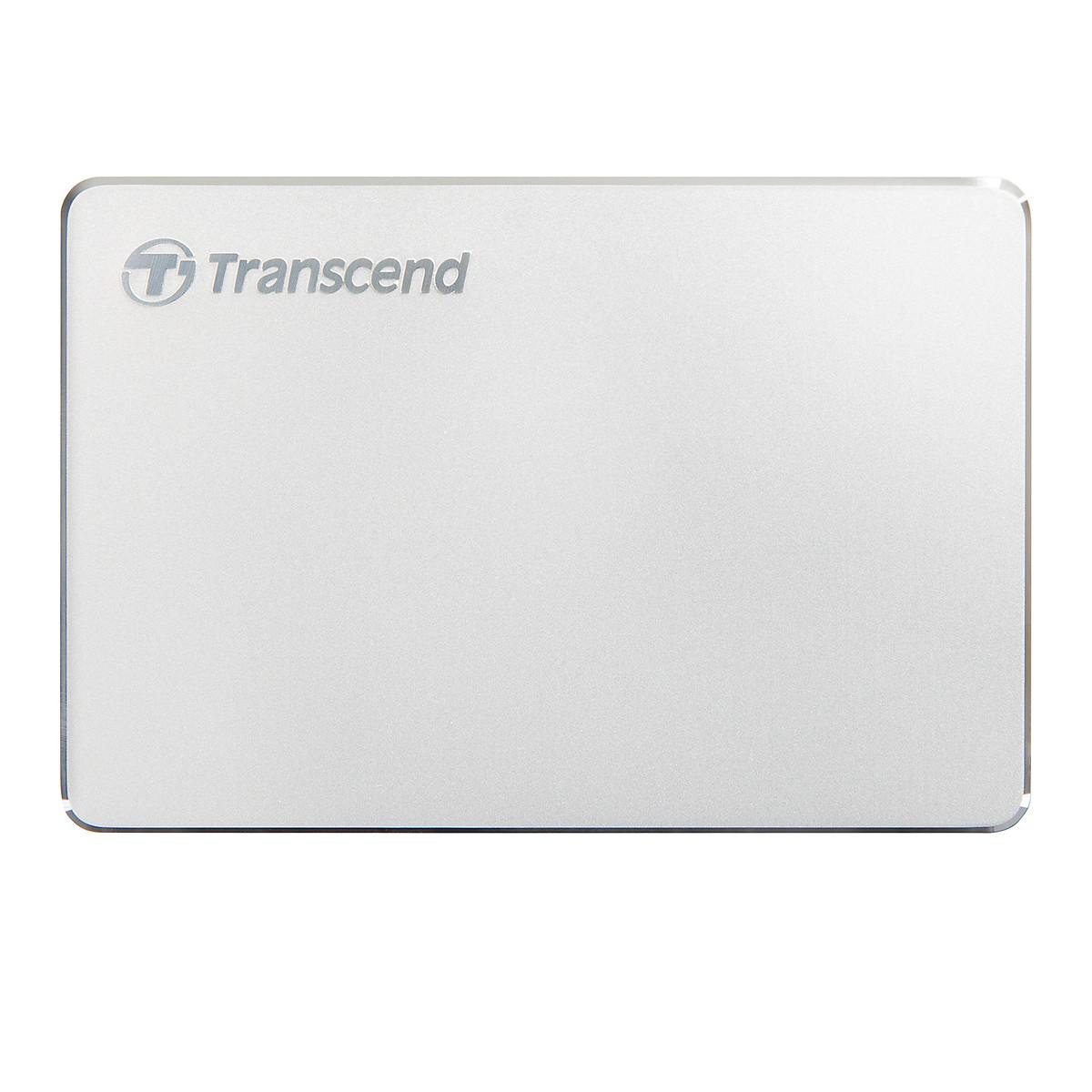 Ổ Cứng Di Động Transcend 2TB StoreJet C3S Aluminum Slim USB 3.1 – Hàng Chính Hãng