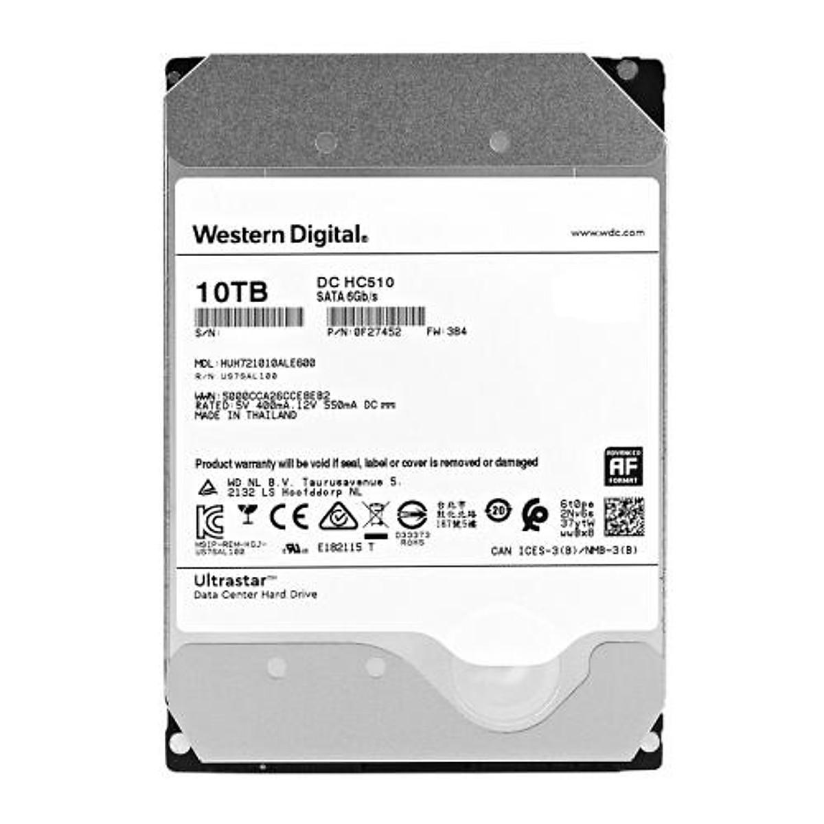 Ổ cứng HDD Western Digital Ultrastar 10TB 3.5 inch Sata 3  – Hàng Nhập Khẩu