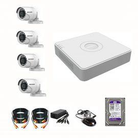 Bộ Camera HIKVISON 2MPX – FHD1080P Chính hãng – Đầy đủ Phụ Kiện Lắp Đặt (Kèm Ổ cứng 500GB)