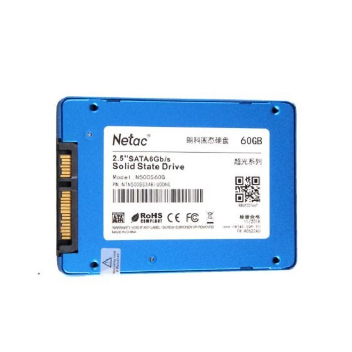Ổ Cứng SSD 60G SATA III NETAC N500S – Hàng Chính Hãng