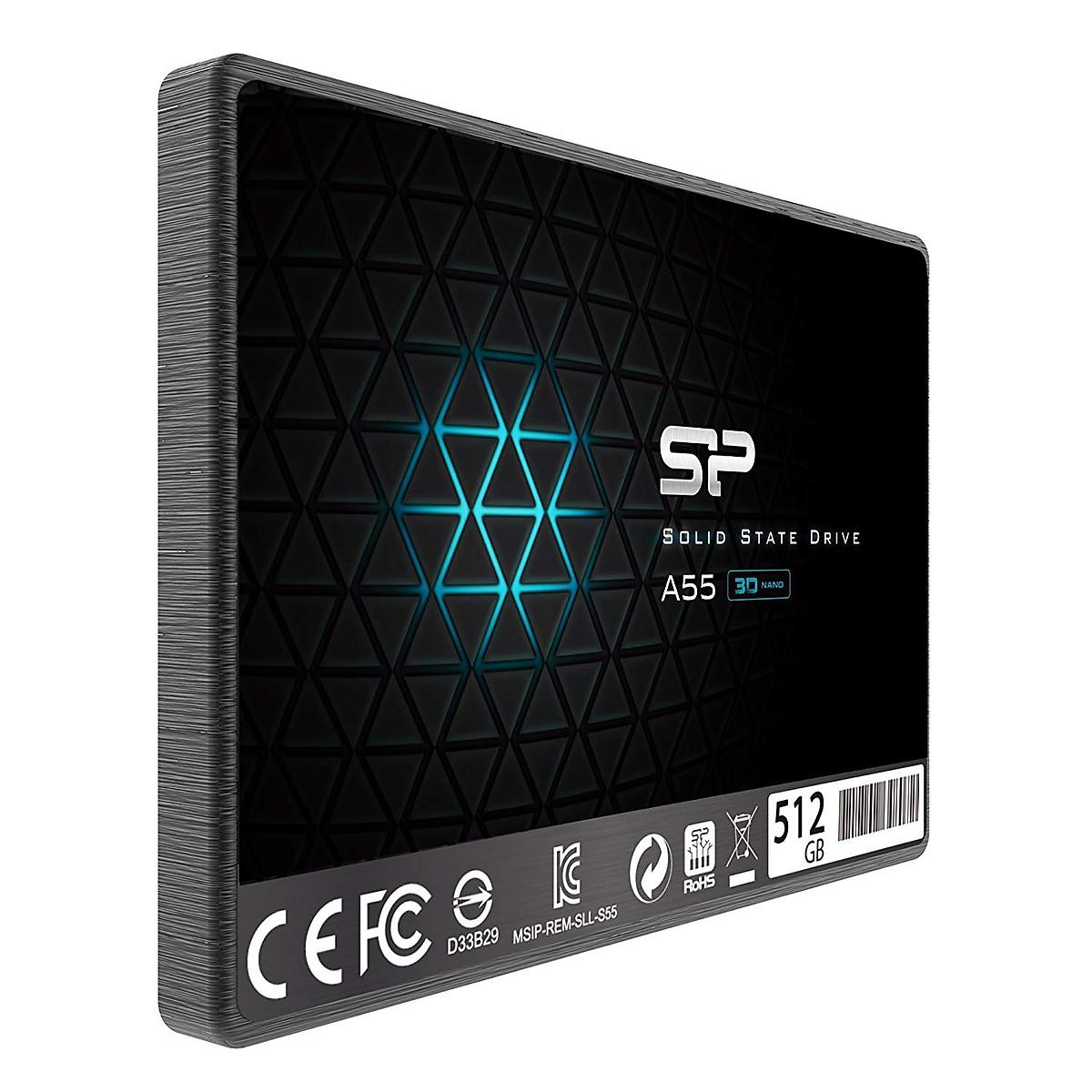 Ổ cứng SSD SILICON 512GB A55 (SP512GBSS3A55S25) Sata III -Hàng chính hãng