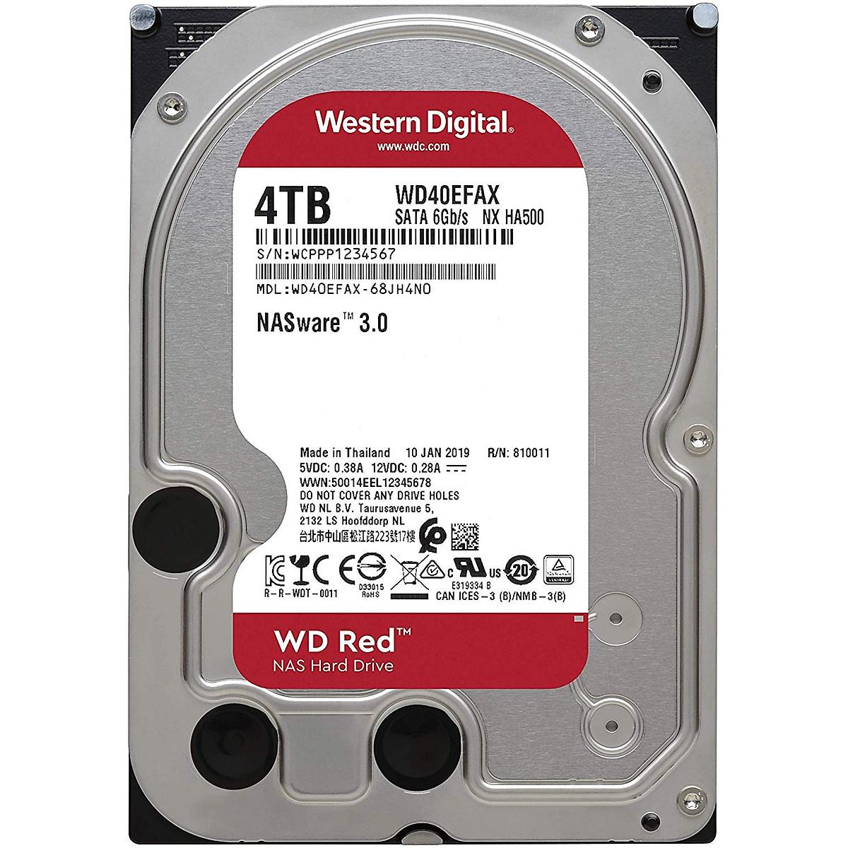 Ổ Cứng HDD NAS WD Red 4TB/256MB/5400/3.5 SATA III – WD40EFAX – Hàng Chính Hãng