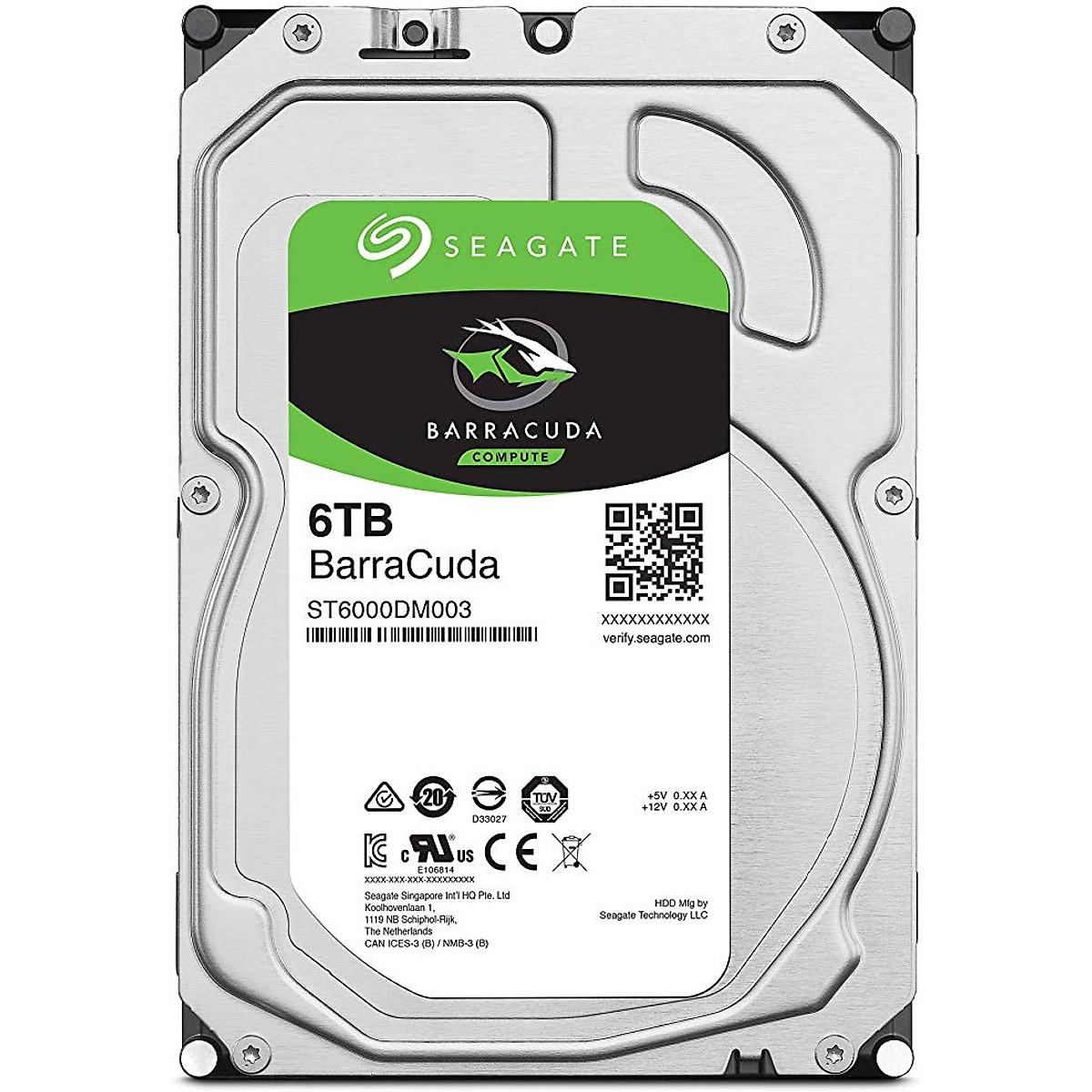Ổ Cứng HDD Desktop Storage Seagate BarraCuda 6TB/256MB/3.5  – ST6000DM003 – Hàng Chính Hãng