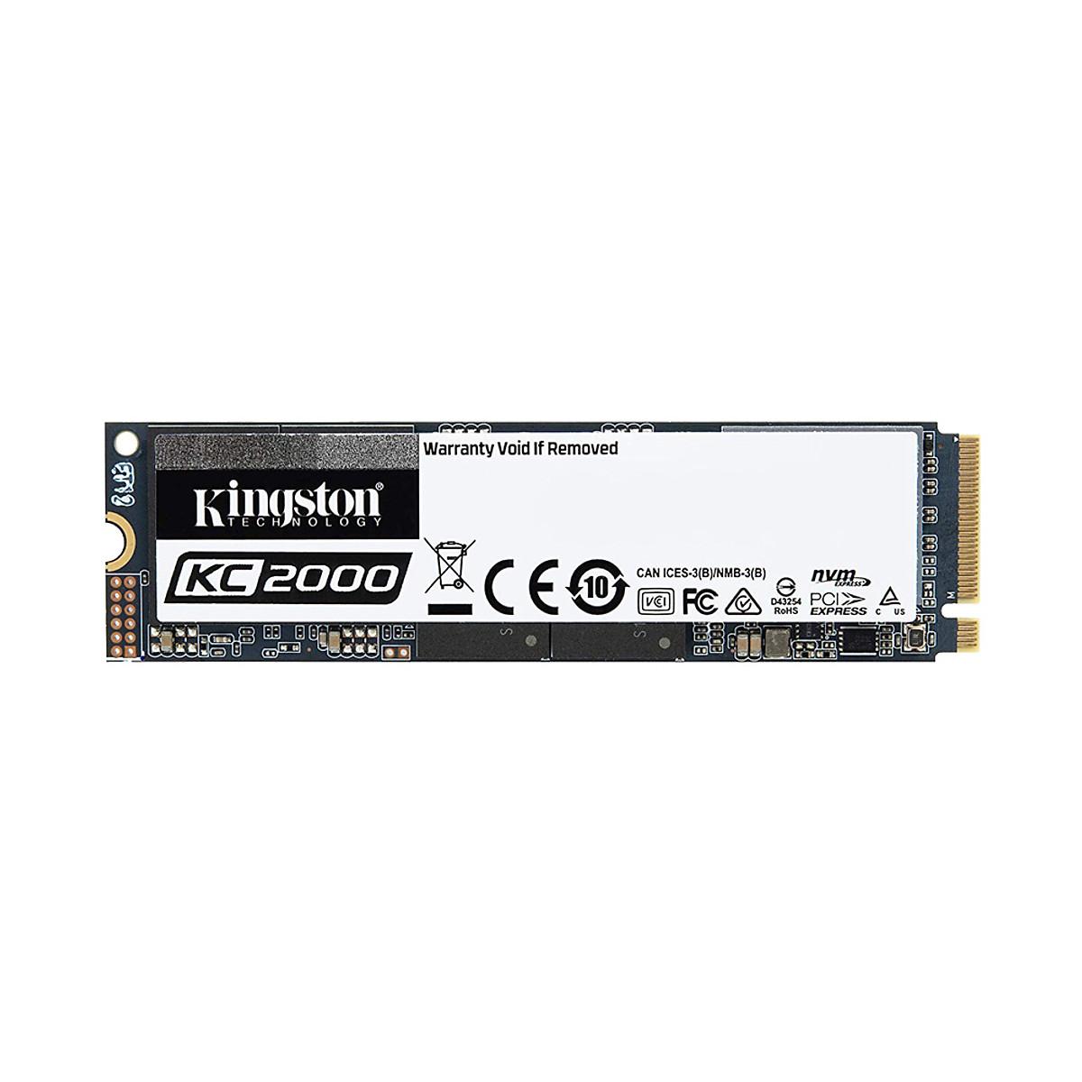 Ổ cứng SSD Kingston KC2000 M.2 PCIe Gen3 x4 NVMe 250GB SKC2000M8/250G – Hàng Chính Hãng