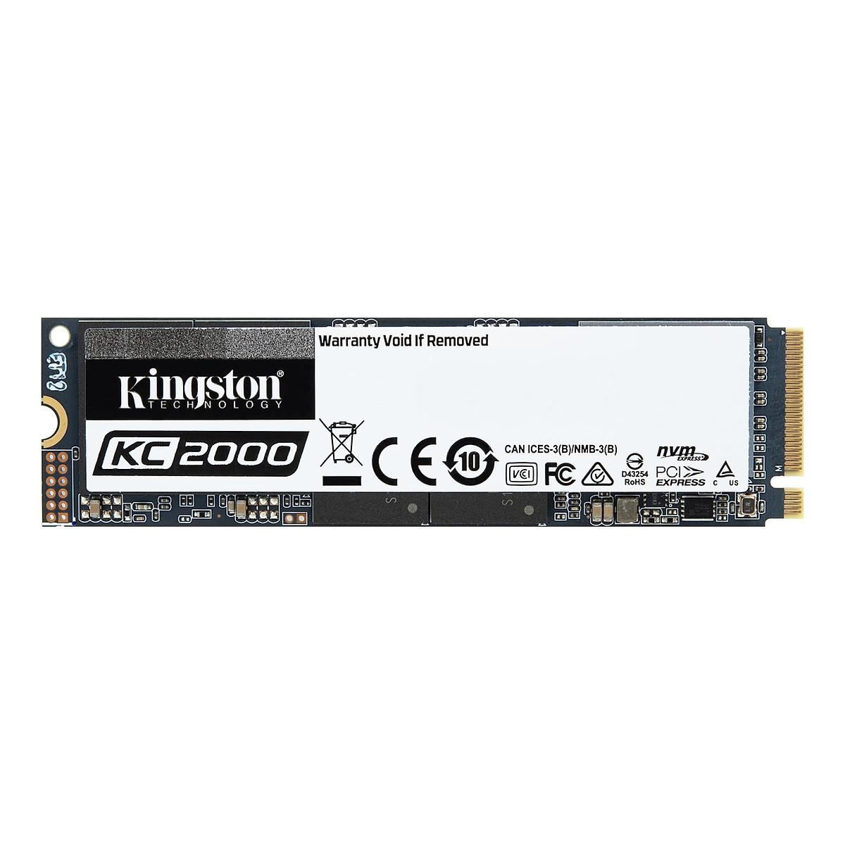 Ổ cứng SSD Kingston KC2000 NVMe PCIe Gen 3.0 x4 500G – Hàng Chính Hãng