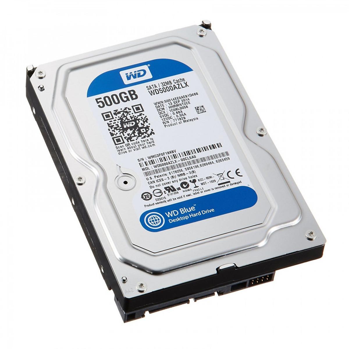 Ổ cứng HDD WD Blue 500GB – Hàng Nhập Khẩu