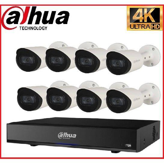 Trọn gói Camera Cao cấp 4K 02 – 8 camera Dahua (8MP)