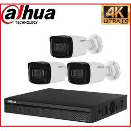 Trọn gói Camera Cao cấp 4K 01 – 3 camera Dahua (8MP)