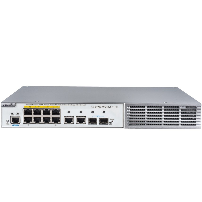 Bộ chia mạng  Poe Ruijie XS-S1960-10GT2SFP-P-H