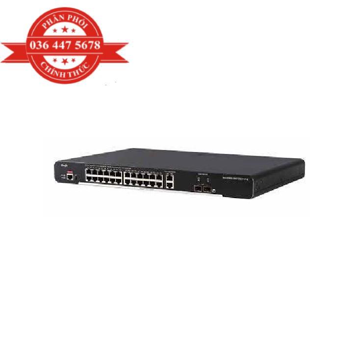 Bộ Chuyển Mạch 24 cổng 10/100Base-T Managed PoE Switch RUIJIE XS-S1920-24T2GT2SFP-P-E – Hàng Chính Hãng
