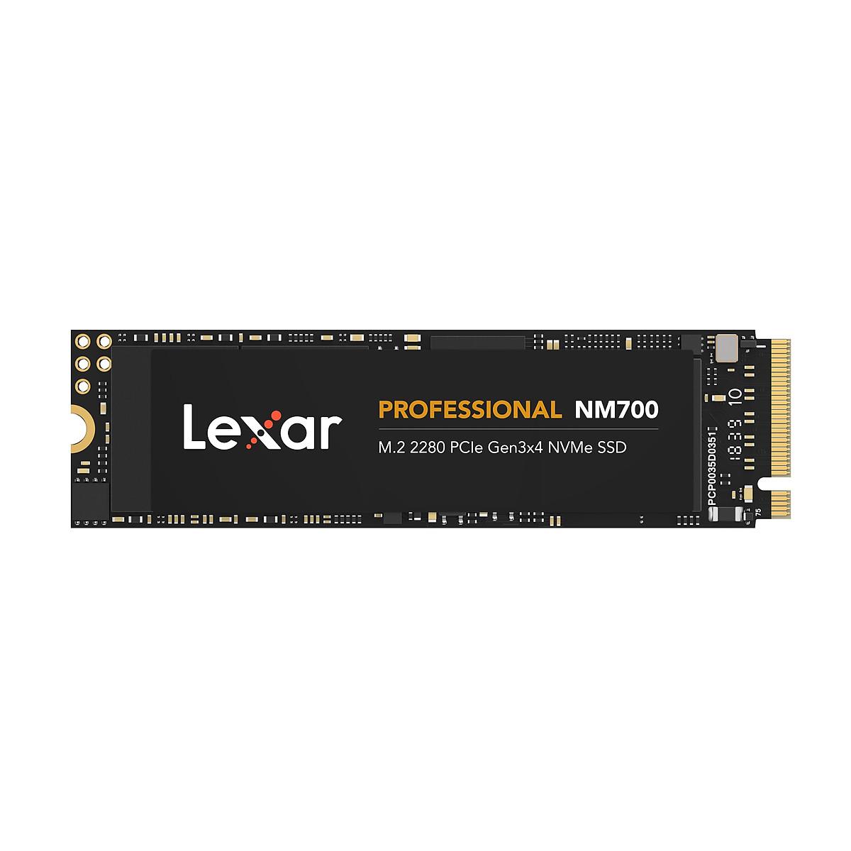Ổ cứng SSD Lexar Professional NM700 256GB PCIe Gen3x4 M.2 2280 NVMe 3500MB/s – Hàng Chính Hãng