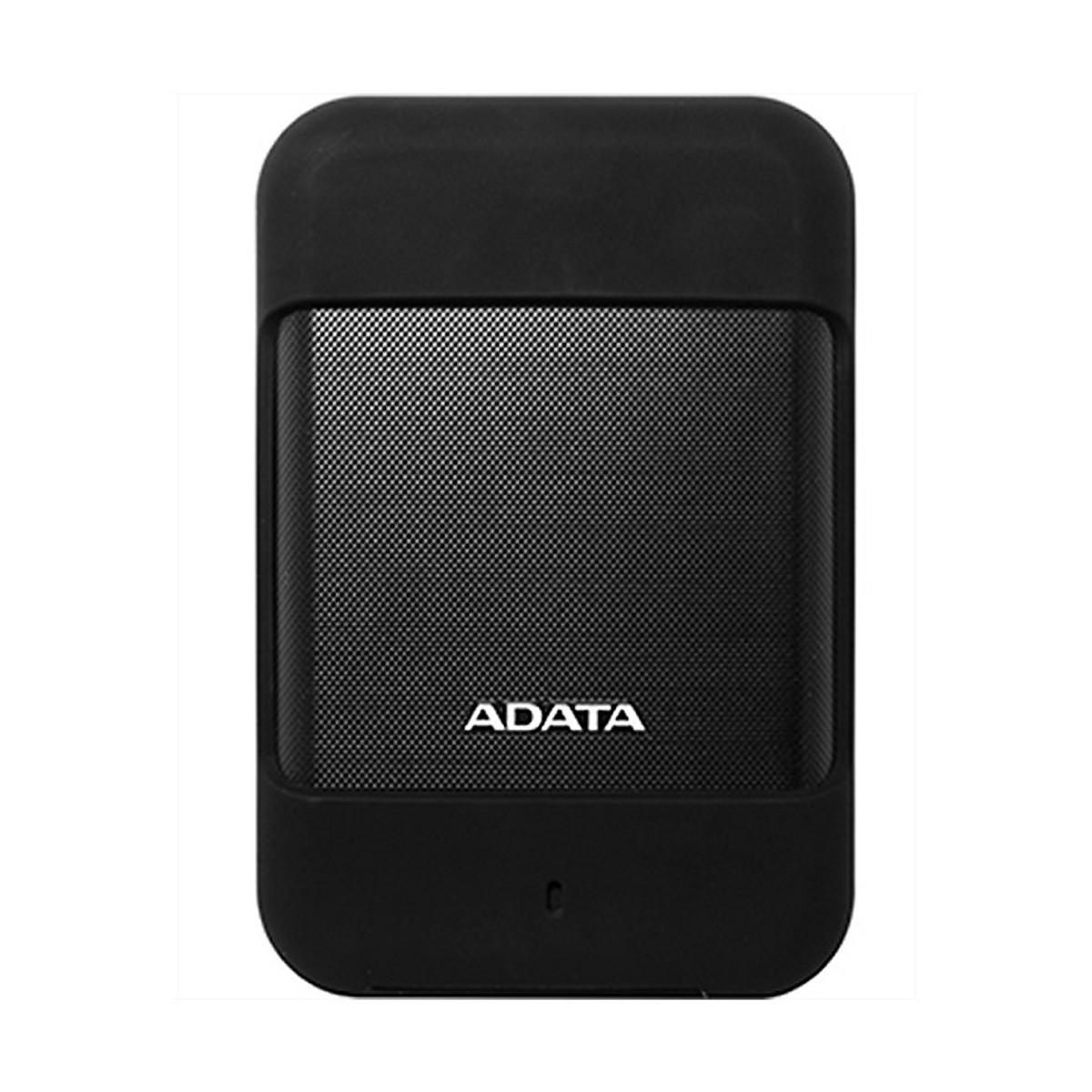 Ổ cứng di động ADATA HD700 2TB / USB 3.1 Gen 1 chống sốc, chống bụi, kháng nước (Đen) – Hàng chính hãng