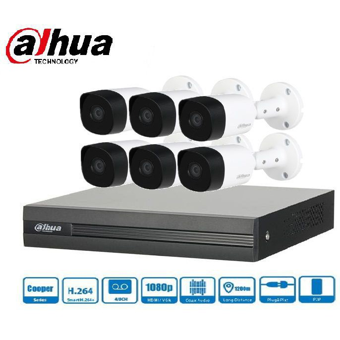 Trọn gói Camera Gia đình 01 – 6 camera Dahua (2MP)