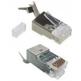 Đầu mạng DINTEK CAT.6 S-FTP – bọc kim loại chống nhiễu, đầu RJ45 gồm 2 thành phần 1501-88032