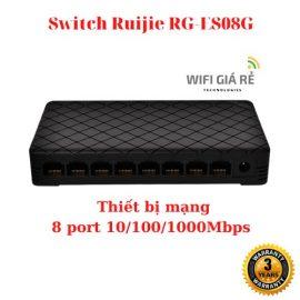 Thiết bị mạng Ruijie RG-ES08G 8 port 10/100/1000Mbps, Vỏ nhựa, Bảo hành 03 năm, hàng Chính Hãng