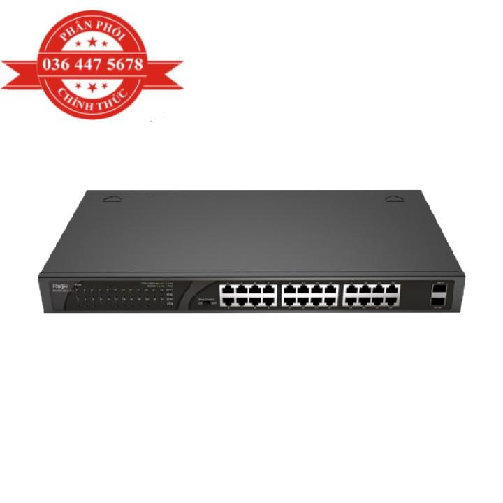 Bộ Chuyển Mạch 24 cổng 10/100/1000 Base-T Unmanaged PoE Switch RUIJIE RG-ES126G-LP-L – Hàng Chính Hãng