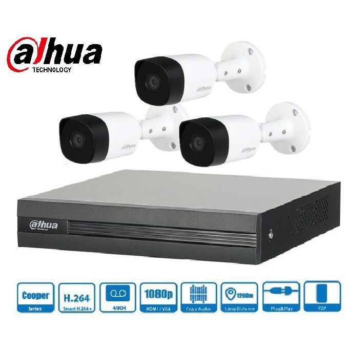 Trọn gói Camera Gia đình 01 – 3 camera Dahua (2MP)