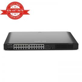 [Mã ELCL3MIL giảm 5% đơn 3TR] Bộ Chuyển Mạch 24 cổng 10/100/1000 Base-T Unmanaged PoE Switch RUIJIE RG-ES126G-P-L