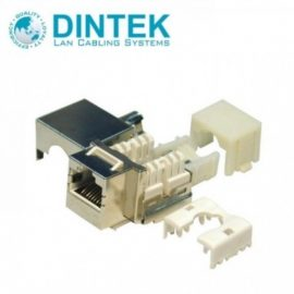 Ổ cắm chống nhiễu Dintek CAT.6 Fully shielded Keystone Jack 1305-04006