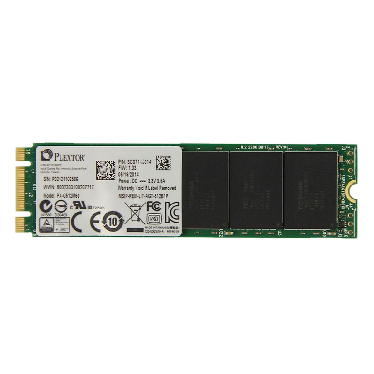 Ổ Cứng SSD Plextor M6e 512GB – PX-G512M6EA – Hàng chính hãng