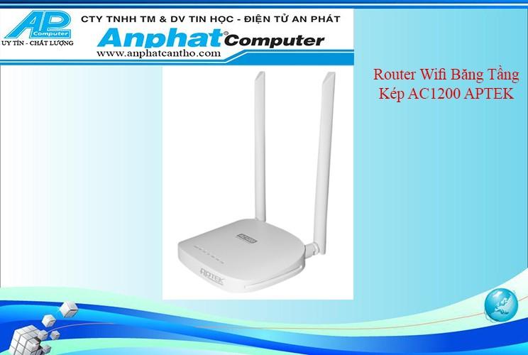 Thiết bị phát wifi Băng Tầng Kép AC1200 APTEK A122e Bảo hành 24 tháng Chính Hãng