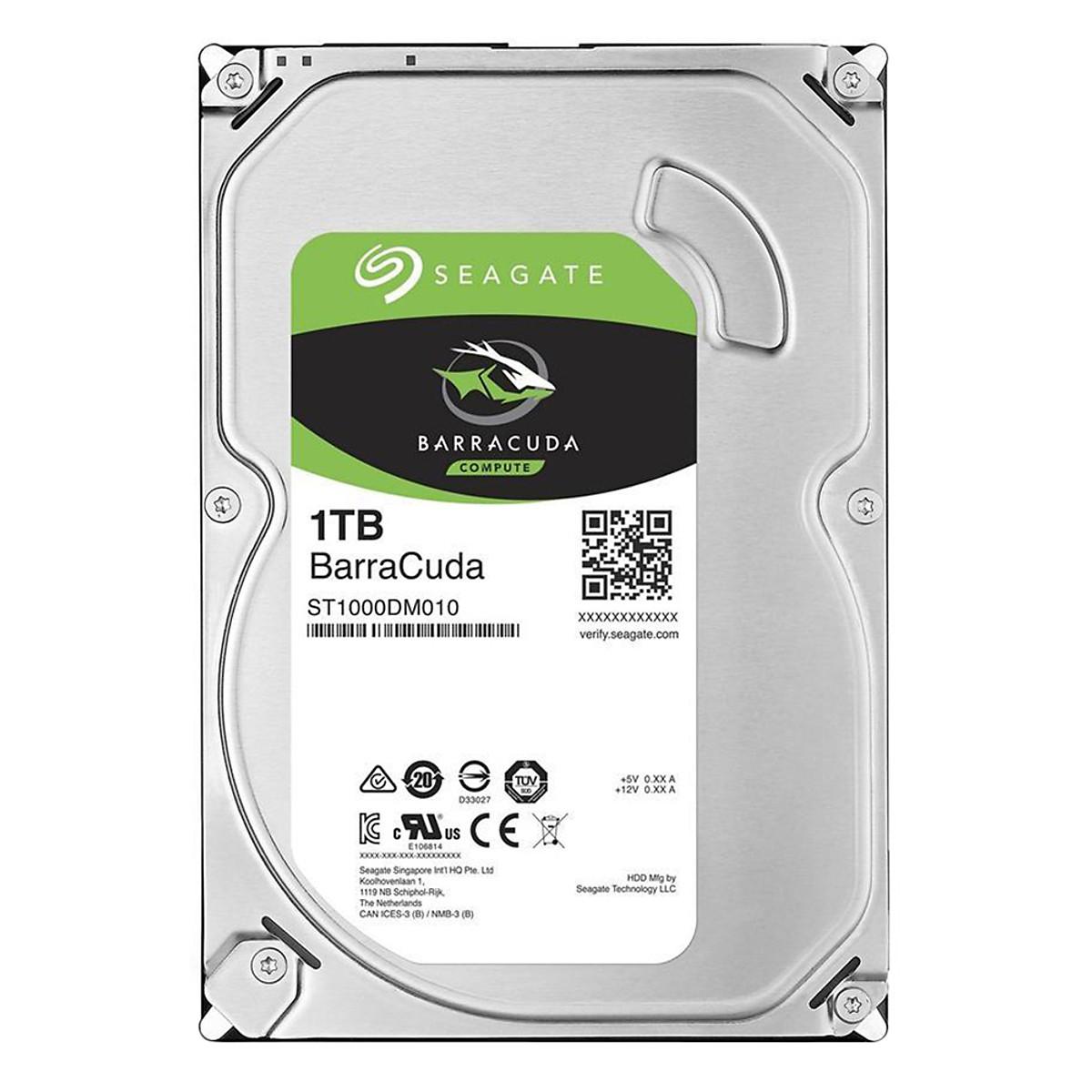 Ổ Cứng HDD Seagate BarraCuda 1TB/64MB/3.5 – ST1000DM010 – Hàng chính hãng