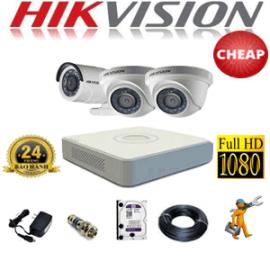 TRỌN GÓI 3 CAMERA HIKVISION 2.0MP (HIK-22314C)