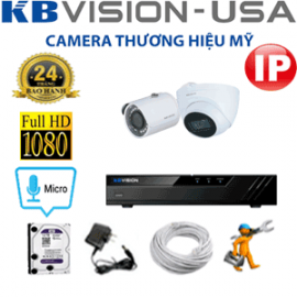 TRỌN GÓI 2 CAMERA IP KBVISION 2.0MP (KB-2133134)