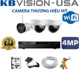 TRỌN GÓI 3 CAMERA WIFI KBVISION 4.0MP (KB-4227128)